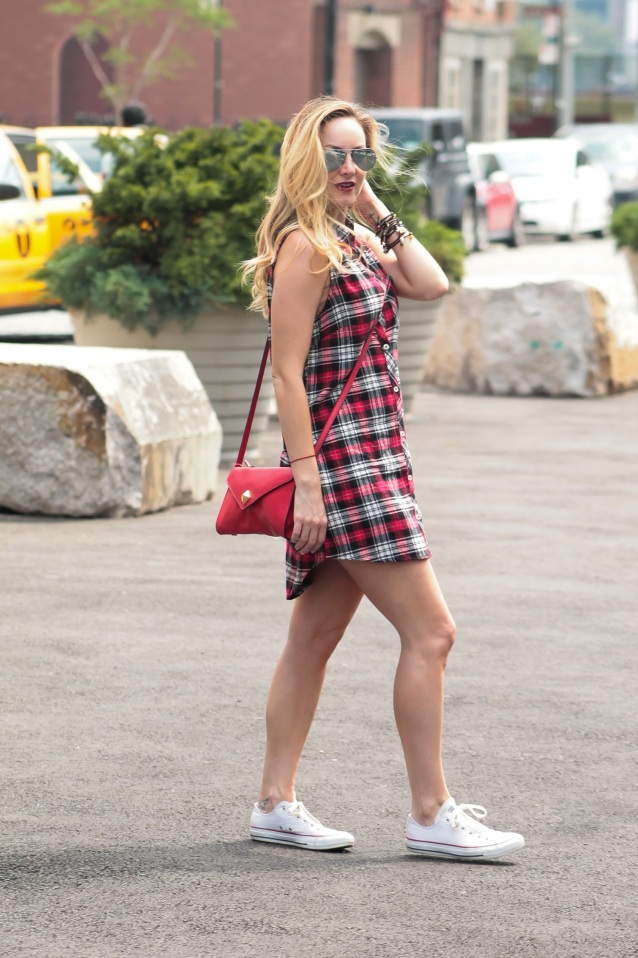 the rachel ross plaid shirt dress