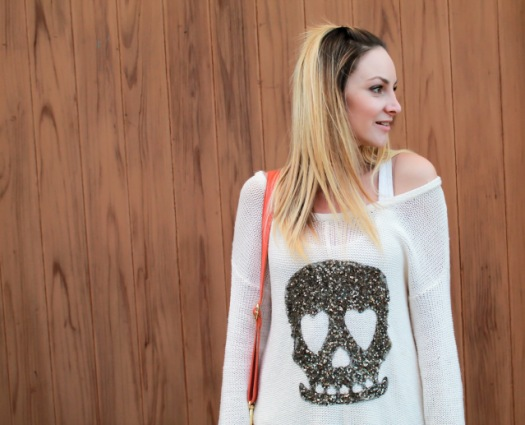 brave new world sweater with skull