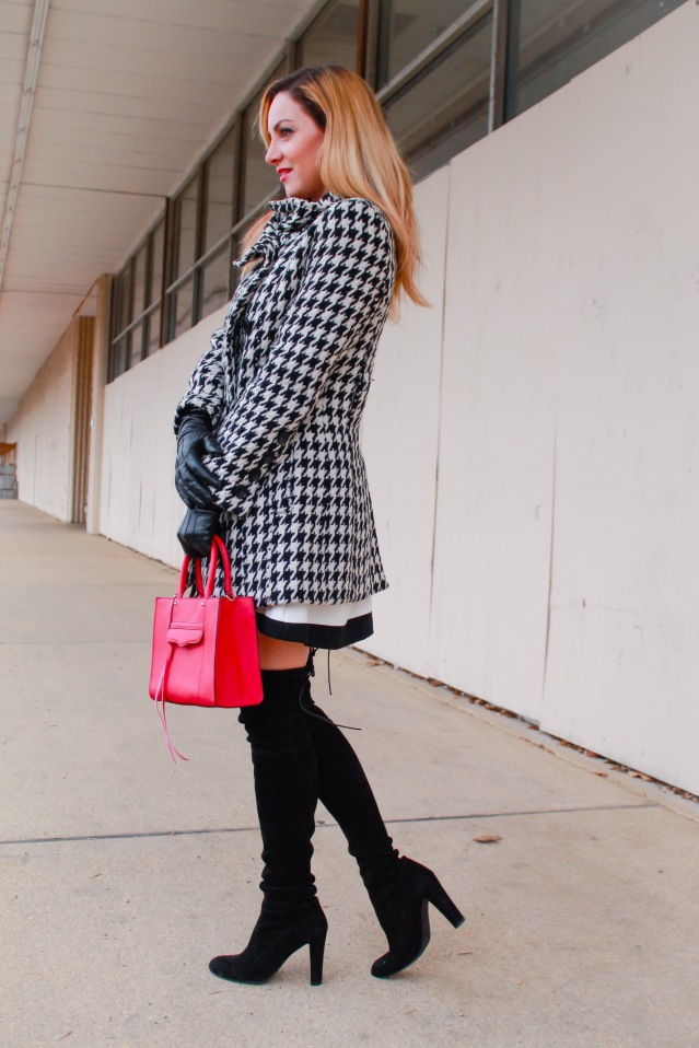 houndstooth winter coat
