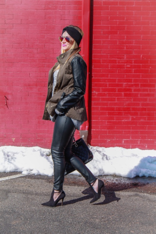 leather and canvas jacket