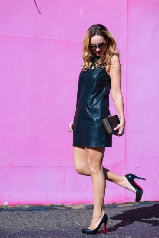 bb dakota leather dress