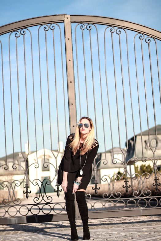 black forever21 tunic dress