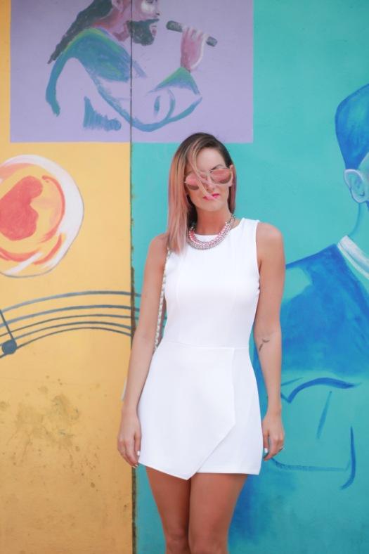 white skort dress