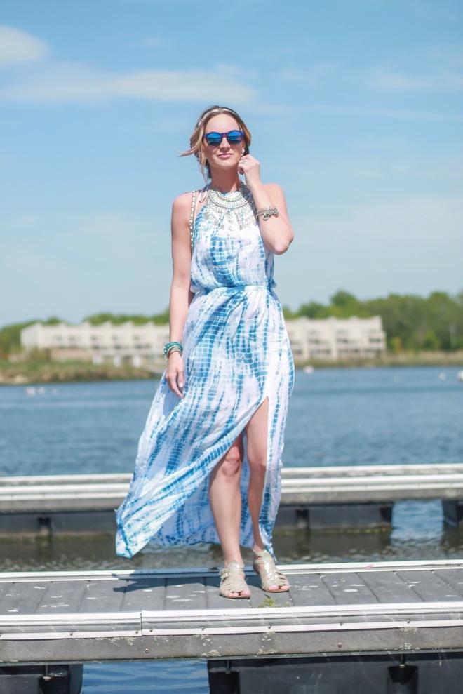 uphoria boutique tie-dye dress