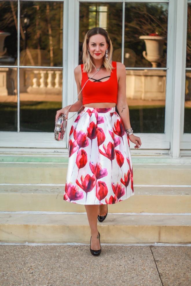 lulu's floral skirt