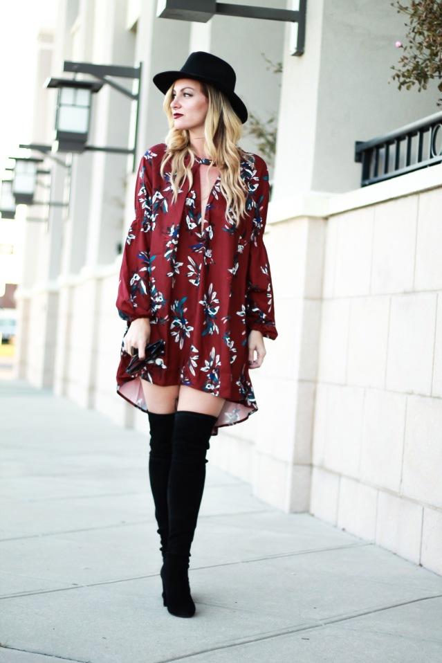 shein floral dress